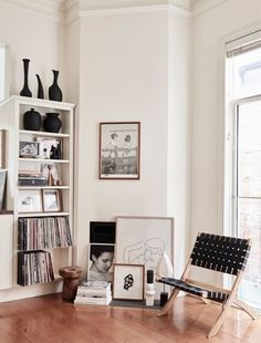 The pared back home of artist Caroline Walls, and cafe owner Emma Hill in Melbourne's inner North.
