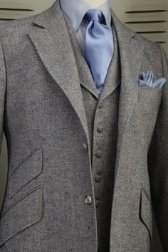 Costume Tweed Donegal Ciel 3 Pièces by Marc Guyot