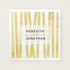 Modern Gold Lilac Bamboo Wedding Paper Napkins - wedding decor marriage design diy cyo party idea