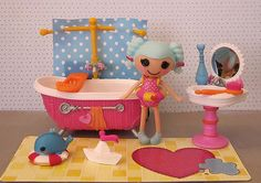 "Bambola Lalaloopsy Mini ""Marina Anchors' Bubble Fun"" Doll Puppe 8 cm"