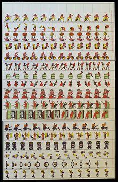 * Scientist #12 - figures for a flip book -Ancient Magic Toys