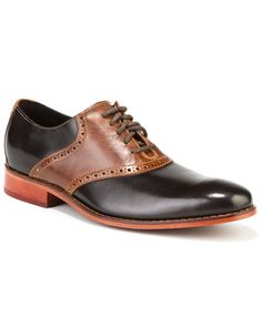 """Cole Haan Men's """"Air Colton"""" Leather Saddle Oxford"""