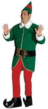 Adult 4 Piece Summer Elf Costume Festive Magic Green Shirt Medium