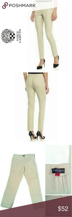 """VINCE CAMUTO SIDE ZIP BEIGE PANTS VINCE CAMUTO BEIGE SIDE ZIP PANTS Finishes with a Flat Front & Back & a Side Zipper, These Skinny Jeans Will Keep You on Trend Year Round! Also Ideal for a Day-to-Night Look! Pair Them w/Tops or Versatile Outfits! Pre-Loved in Excellent Condition! (Too Big) *.  28"""" Inseam / 16"""" Waist *.  98& Colton / 2% Spandex / Machine Washable Vince Camuto Pants Skinny"""