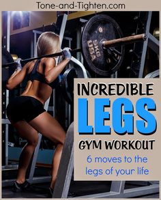 Take your leg definition to the next level in the gym with this amazing workout! #workout #fitness from Tone-and-Tighten.com