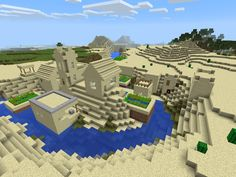 Epic Minecraft PE Fan Seed Submission: Desert Village with Blacksmith - Iron Armor in Blacksmith Chest! Minecraft Pe Seeds, Cool Minecraft Houses, Minecraft Pixel Art, Minecraft Crafts, Minecraft Buildings, Minecraft Ideas, Minecraft Skins, Lego Bedroom, Minecraft Bedroom