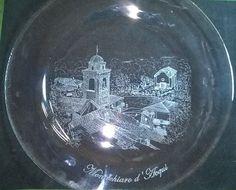 Da una foto di Gianpiero Dominoni, incisione su piatto (diametro 30 cm) della veduta di Montechiaro d'Acqui ( #glass #engraving #vetro #inciso )