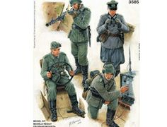 The Zvezda German Halftrack Crew in 1/35 scale from the plastic figure models range accurately recreates the real life German soldiers who fought during World War II.  This plastic figures kit requires paint and glue to complete.