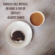 """Should I kill myself..."" - Albert Camus [2448x2448]"