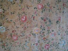 lovely old floral wallpaper