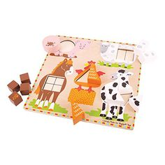 Bigjigs Toys BJ444 Farm Animal Shape Sorter -- This is an Amazon Affiliate link. Check out this great product.