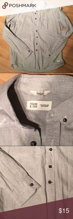 Frank and oak button up dress shirt Frank and oak gray button down with black buttons. Frank & Oak Shirts Casual Button Down Shirts