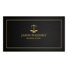 Elegant Black and Gold Attorney At Law Business Card -   #custom #Lawyer Themed  #gift #profilecard design by #AV_Designs - #profilecard #attorney #lawyers #lawyer #attorneys #attorneyatlaw #professional #elegant #blackandgold #law #scales #scale #classy #classic #sophisticated #modern