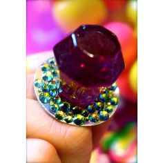 Amazing Grape Ring Pop Resin Candy Glam Ring