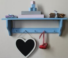 Shakers shelf with pegs shabby chic by GoodwoodOriginals on Etsy, £30.00