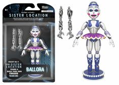 Funko Action Figure: Five Nights at Freddy's-Sister Location – Ballora No. Five Nights At Freddy's, Figurines D'action, Fnaf Action Figures, Vinyl Figures, Pop Figures, Coming Out, Chibi, Freddy 's, Funtime Foxy