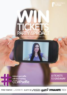 CC VIP Selfie Competition – #WIN VIP tickets for PARTY AT THE PROACT  We're giving away 10 #VIP tickets for the PARTY AT THE PROACT! All you need to do is upload a selfie to enter. The picture with the most likes WINS a ticket for you and a friend. Caption it with the hashtag #CCVIPselfie before midnight on Sun 25th May to be in for a chance to WIN.  Upload via any channel; just make sure you share it through Facebook, Twitter or Instagram with the #CCVIPselfie