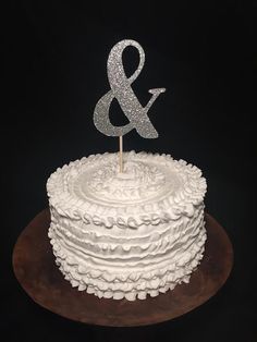Birch Wood Wedding Cake Topper by cmorrisdesigns on Etsy