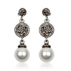 Joyeria Plata y Azabache Artesania Galicia Home Page Silver and Black Jet Crafts Jewelry Crafts Vintage Earrings, Pearl Earrings, Tax Free, Marcasite, Jewelry Crafts, Pearls, Sterling Silver, Retro, Collection