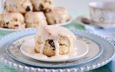 Cranberry Pecan Cream Scones with Orange Glaze Recipe