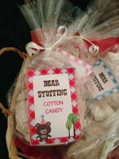Cute Colorful & Modern Bear Stuffing Cotton Candy by BeeswaxBuzz - Teddy Bear Picnic Birthday Party