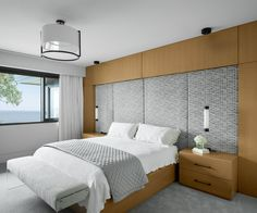 Designed by Madeleine Design Group in Vancouver, Canada. *Re-pin to your inspiration board* Inspiration Boards, Vancouver, This Is Us, Neutral, Canada, Ocean, Group, Interior Design, Bedroom