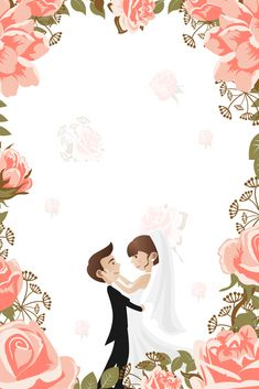 Hand Painted Flowers Fresh Invitations Wedding Wedding Creative Design Posters – T-Shirts & Sweaters Wedding Invitation Posters, Wedding Invitation Card Design, Wedding Posters, Floral Invitation, Wedding Couple Cartoon, Wedding Greetings, Creative Poster Design, Design Posters, Photos Booth