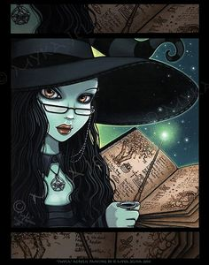 Twyla Samhain Witch Halloween Magical Fantasy Signed BIG Prints