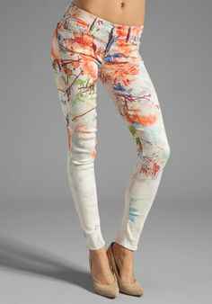 MOTHER The Looker Skinny in Pocket Full of Posies at Revolve Clothing - Free Shipping!