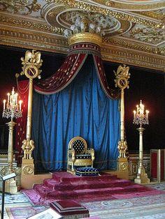 Napoleon's throne at Chateau de Fontainebleau