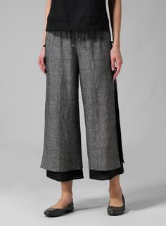 Linen Double-Layer Pants | Take a vacation without leaving home in this resort-ready double layers pant. Tailored from lightweight linen that will keeps you cooling all day. Comfy and sweet....