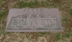So Many Ancestors!: Tombstone Tuesday: William F. and Josephine H. Illig #genealogy