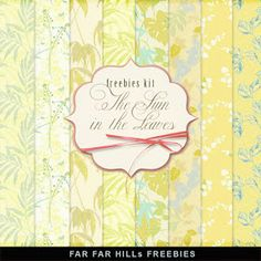 New Freebies Kit of Paper - The Sun in the Leaves:Far Far Hill - Free database of digital illustrations and papers Free Digital Scrapbooking, Digital Scrapbook Paper, Digital Papers, Digital Paper Freebie, Far Hills, Pattern Paper, Paper Patterns, Vintage Scrapbook, Old Paper