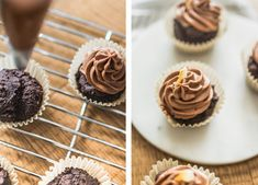 Dairy-free, egg-free, vegan cupcakes with asuperfood boost thanks to organic maca and raw cacao powder -- the perfect combo of chocolatey goodness! Vegan Gluten Free, Dairy Free, Raw Cacao Powder, Vegan Cupcakes, Sprout Recipes, Egg Free, Vegan Chocolate, Superfood, Sprouts