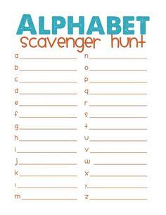 Alphabet Scavenger Hunt Free Printable Clroom For