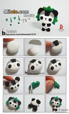 Polymer clay Panda tutorial