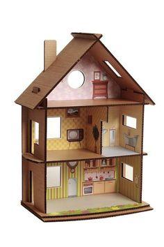 Погода у нас началась не самая приятная, мы все больше проводим времени дома и занимаемся разными интересными делами)) Вот, например, домики делаем из картонных…