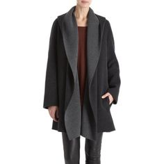 Vince. Draped Hooded Coat at Barneys.com