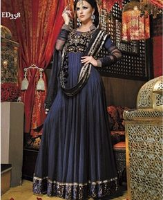 Pakistani Style Long Anarkali Kameez Gorgeous by Ethnicdresses, $189.00