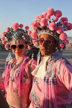 thewhocaresgirl:    Pink Playa People by siberfi on Flickr.                                                                                                                                                     More