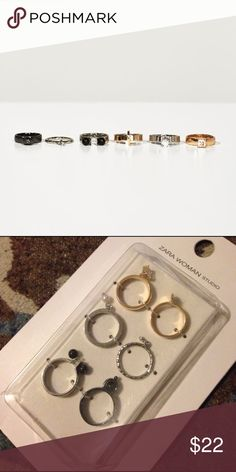 Pack of Studio Rings 💍 - ZARA The rings are intact in its package. Price is not negotiable for this item 🚫 Take advantage of BUNDLE DISCOUNT Zara Accessories
