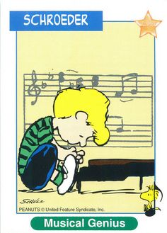 Peanuts MetLife All Star Cards - Schroeder and Woodstock