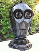 C3-PO Head from Star Wars, large size. Contact us at sales@steelartfactory.com for more information.