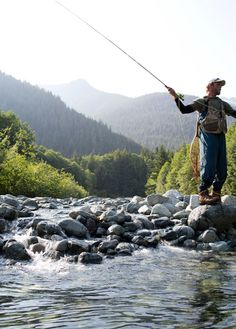 Fly-fishing on our river at Clayoquot Wilderness Resort. www.wildretreat.com #fishing