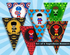 Superhero baby shower package inspired by Captain by eltendedero - Visit to grab an amazing super hero shirt now on sale! Happy Birthday Spiderman, Superhero Birthday Party, Happy Birthday Banners, Boy Birthday, Superman Party Theme, Superhero Cupcake Toppers, Superhero Baby Shower, Batman Spiderman, Joseph