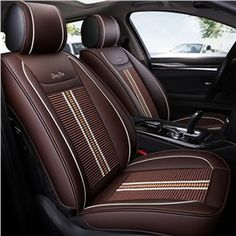 Modern Style Stripe Pattern PU Leather Universal Car Seat Cover Bench Covers, Car Covers, Truck Interior, Stripe Pattern, Rear Seat, Luxury Interior, Cool Cars, Pu Leather, Station 11