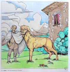Beasts of Tolkien - The Wolfhound of Valinor Coloured with Polychromos