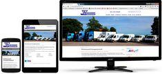 Transportsentralen i Kristiansand har også fått levert  mobilvennlig design av Web Norge. Web Design, Monitor, Electronics, Design Web, Website Designs, Consumer Electronics, Site Design