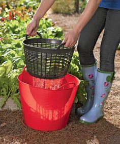 Tubtrug Colander - rinse veggies in garden and reuse the water.
