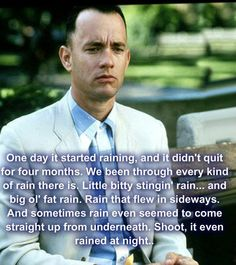 Forest Gump never gets old! I could watch it over and over again!